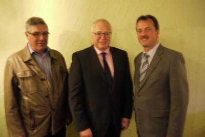 Die Kandidaten der CDU Ubstadt-Weiher für den Kreistag: von links Artur Leiser, Tony Löffler und Wolfgang Münch