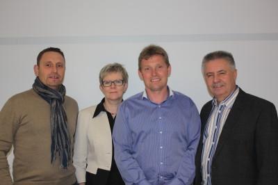 Die Stettfelder CDU Gemeinderatskandidaten von links: Ulrich Ampssler, Antonia Meier, Helmar Eckstein, Ludwig Bräutigam